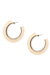 Paddle Hoop Earrings