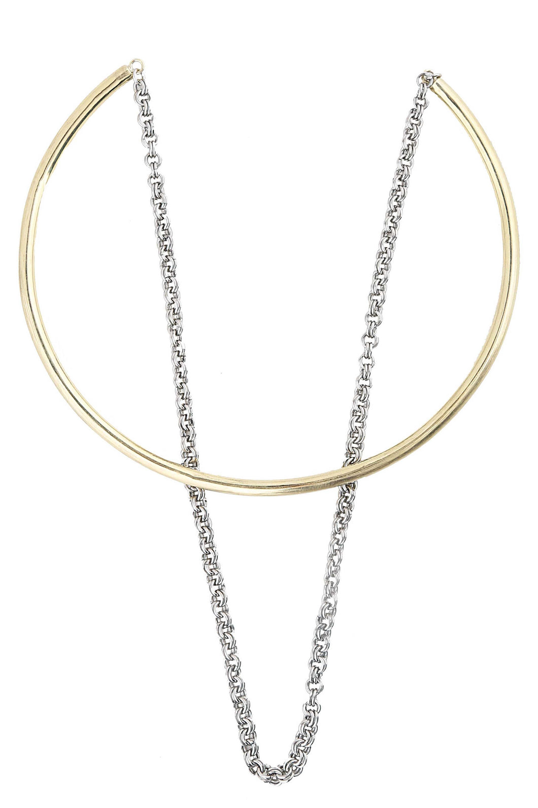 Short Luxe Chain Dangle Necklace