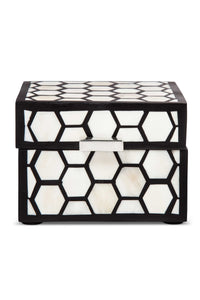 Black & White Inlaid Decorative Box