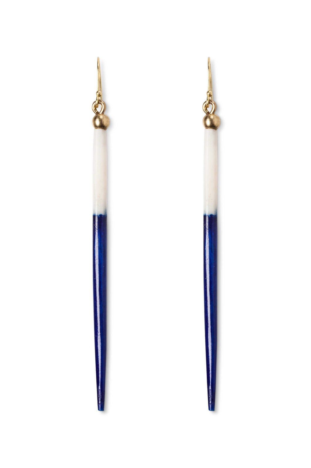Royal Blue Porcupine Earrings