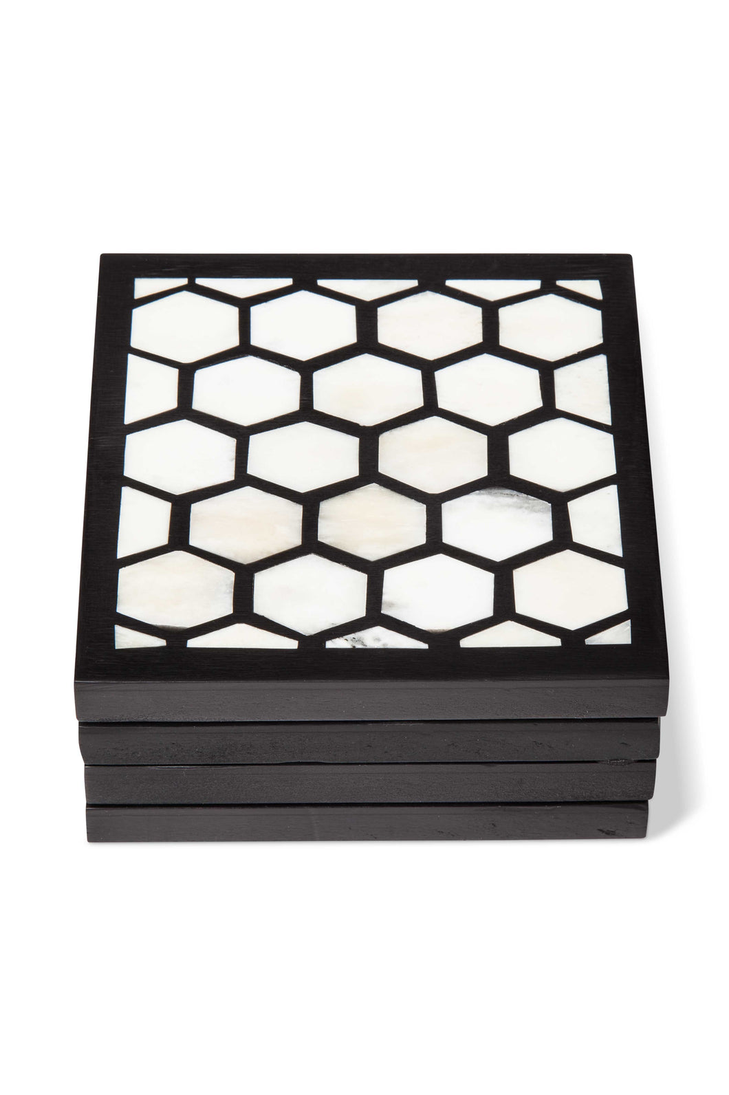 B&W Inlaid Coasters (Set of 4)