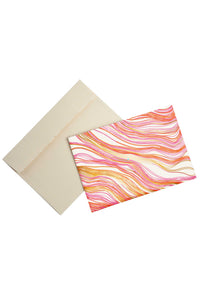 Pink Wood Grain Printed Notecards (Set of 10)