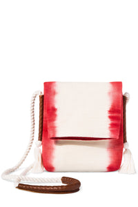 Coral Stripe Dip-Dye Crossbody