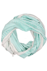 Aqua Embroidered Oversized Scarf