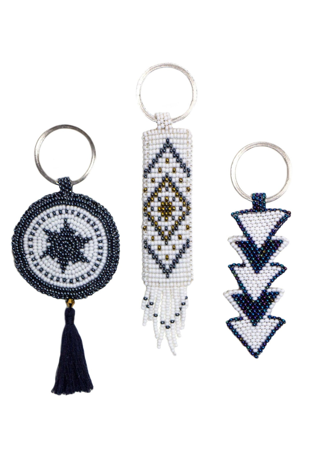 Ixcan Beaded Key Holder