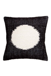El Circulo Black Wool Pillow