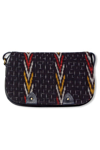 Black Tribal Ikat Shoulder Bag