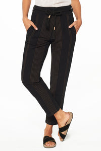 Ael Black Stripe Pants