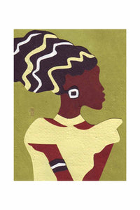African Lady Card