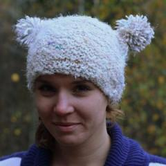 Arctic Snowball Hat EASY Knit Pattern