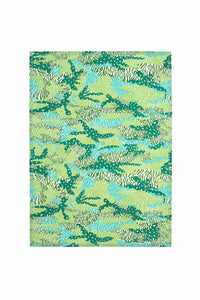 Fierce Green Camo Tea Towel