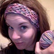 2 in 1 Skein Headband and Necklace - Made with Cotton T-Shirt Yarn