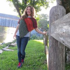 Covered Bridge Poncho EASY Knit Pattern - Digital Download