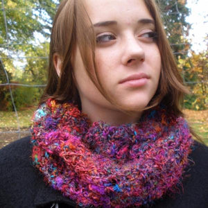 Crochet This! Darn Good Yarn Random Stitch Cowl Pattern