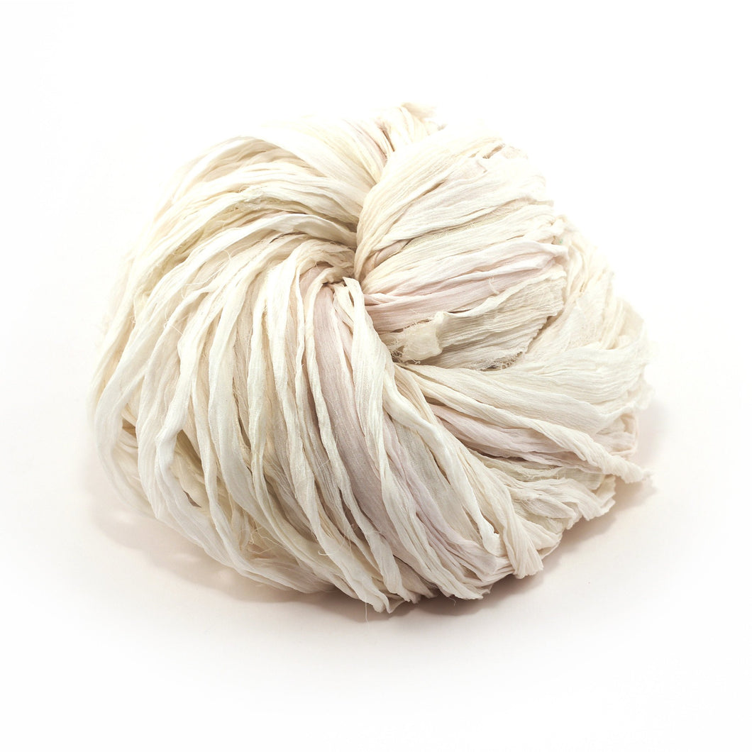 White Silk Chiffon Ribbon Dyeable