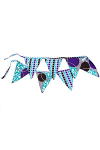 Bunting Flag Decorative Banner in Aqua Blues