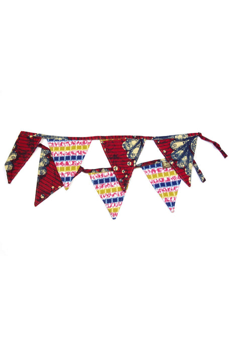 Bunting Flag Decorative Banner in Red Fuchsias