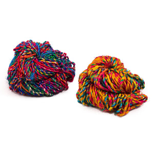Firecracker Recycled Resolution Silk Yarn - Metallic