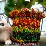 Flower Pot Cozy Easy Knit Pattern - Digital Download