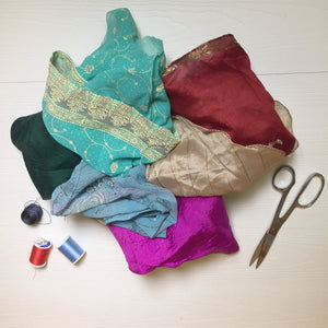 Recycled Sari Silk Fabric