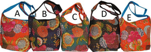 Kantha Flower Slouch Bag