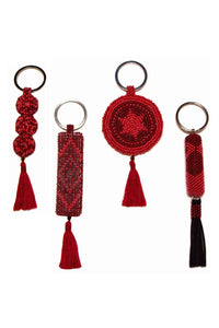 Pasaco Roses of Red Beaded Key Holder