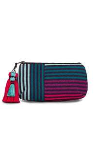 Iris Jungle Stripe Tassel Clutch