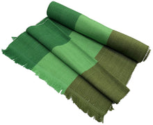 Hand Woven Organic Cotton Table Runner--Kelly Green