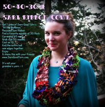 50-40-30-1 recycled sari ribbon cowl