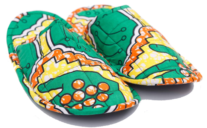 Green, Yellow & Orange High 5 Slippers (Uni-sex)