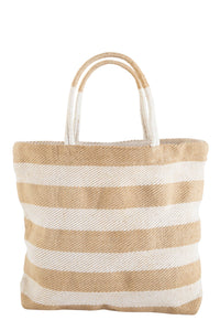Pacific Wide Stripe Shopper