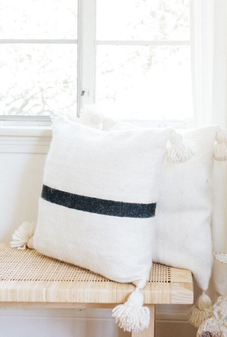 Wool Pom Pom Pillow