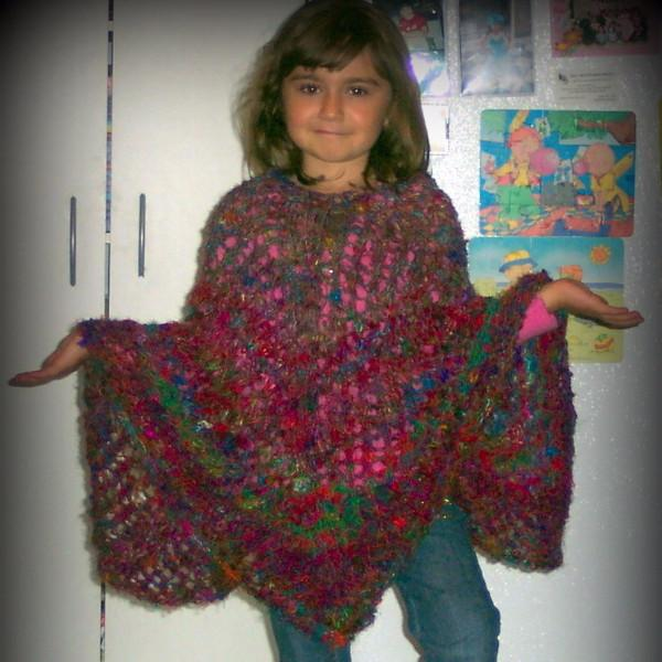 Knit: Tibet Sari Silk Poncho Knit Pattern By Faith!