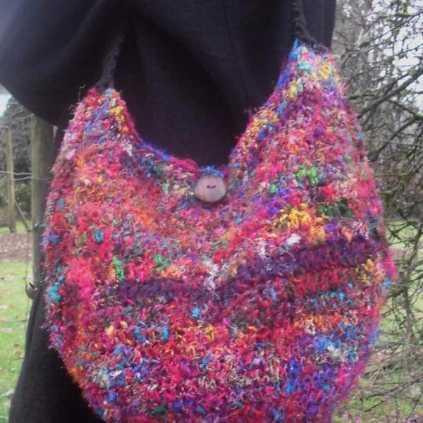 Crochet! The Recycled Sari Silk Hobo Purse Pattern