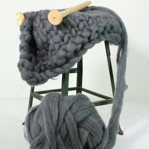 Over Sized Wool Roving Throw - Kit