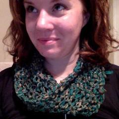 Knit Chiffon Ribbon Cowl Easy Pattern