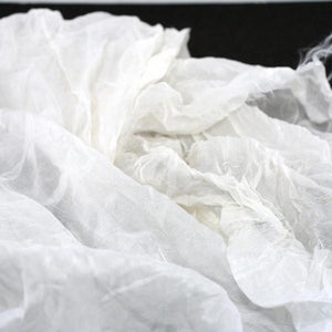 Crinkled Silk Chiffon Fabric