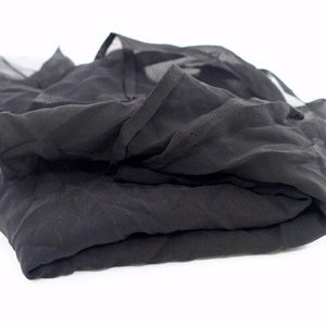 Crinkled Black Silk Chiffon Fabric Pack of 10