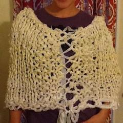 Simple Knit Poncho Easy Pattern - Digital Download