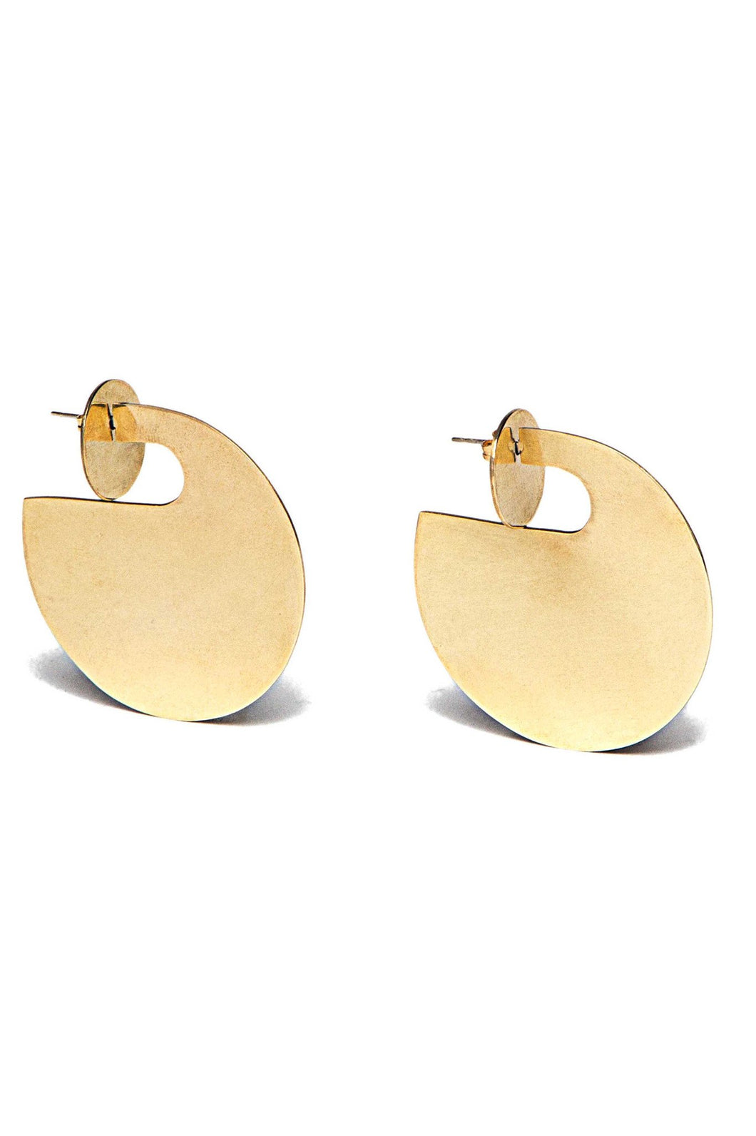 *Exclusive Statement Double Coin Plate Jacket Earrings