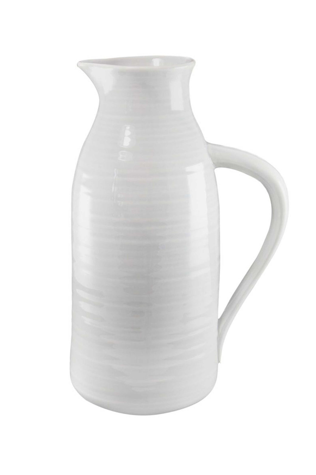 Light Grey Stoneware Pitcher