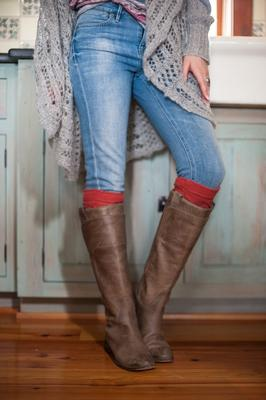 Cable Knit Boot Cuffs in Multiple Colors