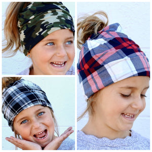 Childs Stylish Super Soft Beanie, Regular, Messy Bun/Pony Tail or Neckwarmer