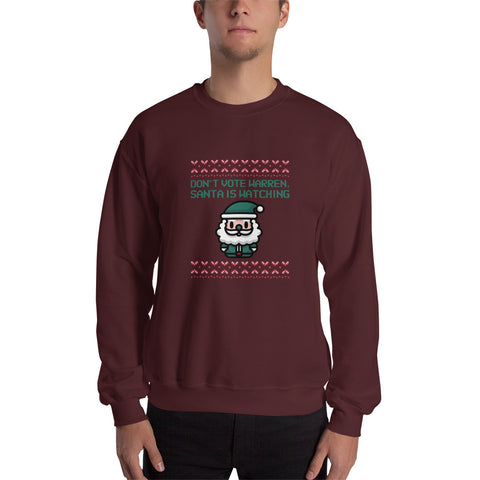"""Don't Vote Warren, Santa Is Watching"" Ugly Sweater Style"