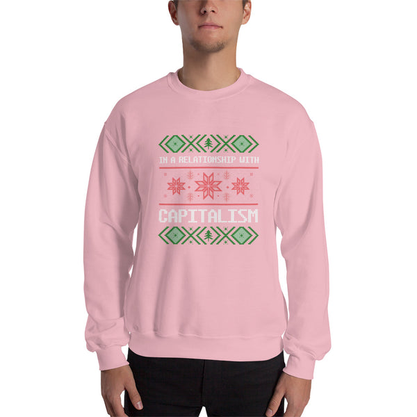 """In A Relationship With Capitalism"" Ugly Sweater Style"