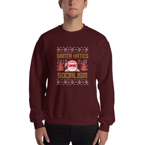"""Santa Hates Socialism"" Ugly Sweater Style"