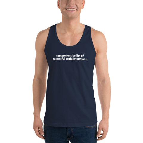 """Comprehensive List Of Successful Socialist Nations"" Classic Tank Top"