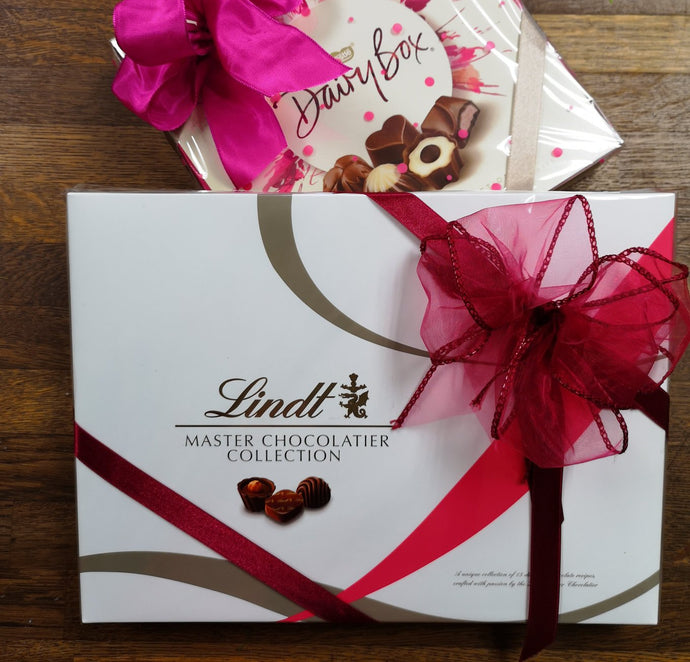 Gift wrapped chocolates