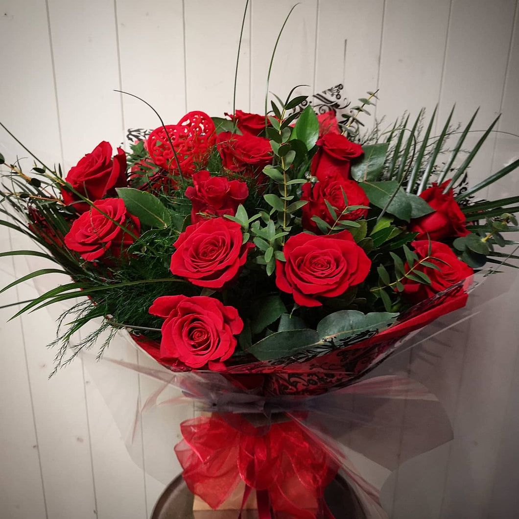 'Freedom' Red Rose Hand Tied