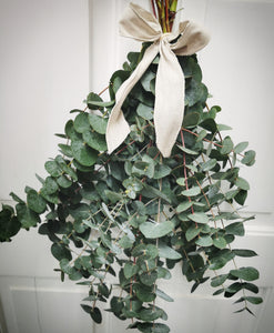 Fresh Eucalyptus tied with Natural Linen, 27th Thurs